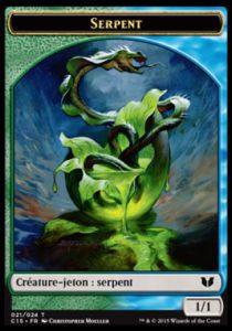 Tokens Magic Magic the Gathering Token/Jeton - Commander 2015 - Double :Serpent U/Saprobionte