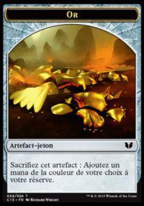 Tokens Magic Accessoires Pour Cartes Token/Jeton - Commander 2015 - Double :Artefact or/Chavalier