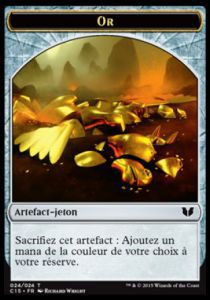 Tokens Magic Magic the Gathering Token/Jeton - Commander 2015 - Double :Artefact or/Chavalier
