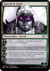 Grande Carte Oversized Magic the Gathering Oversized - Garruk le tueur