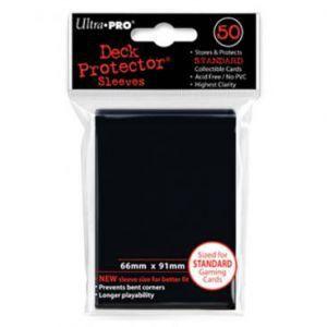 Protèges Cartes  50 pochettes - Deck Protector - Noir