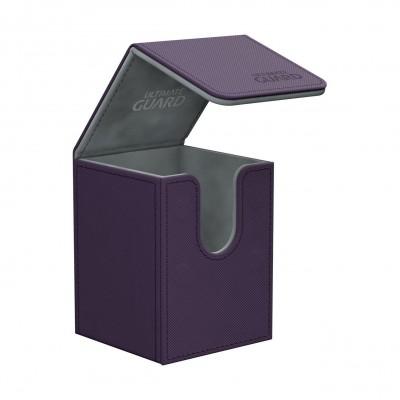 Boites de Rangements Accessoires Pour Cartes Flip Deck Case 100+ - Xenoskin - Violet