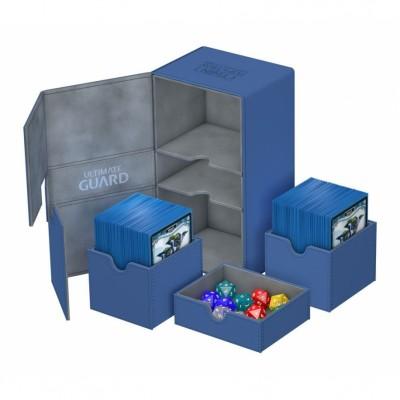 Boites de Rangements Accessoires Pour Cartes Deck Box Ultimate Guard - Double 200+ - Bleu - T4 - Acc