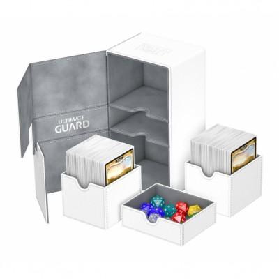 Boites de Rangements Accessoires Pour Cartes Deck Box Ultimate Guard - Double 200+ - Blanc - T4 - Acc