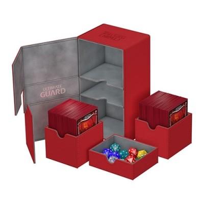 Boites de Rangements Accessoires Pour Cartes Deck Box Ultimate Guard - Double 200+ - Rouge - T4 - Acc