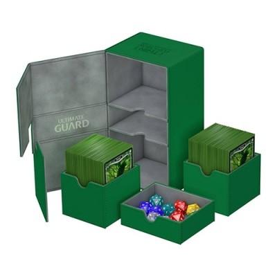 Boites de Rangements Accessoires Pour Cartes Deck Box Ultimate Guard - Double 200+ - Vert - T4 - Acc