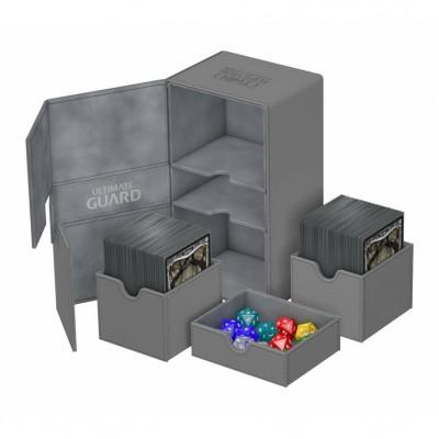 Boites de Rangements Accessoires Pour Cartes Twin Flip'n'tray - Double 200+ - Gris - T4
