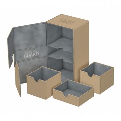 Boites de Rangements Accessoires Pour Cartes Deck Box Ultimate Guard - Double 200+ - Sable - T4 - Acc