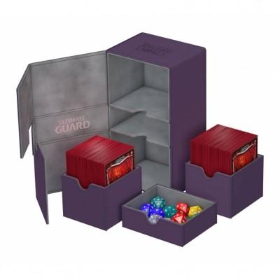 Boites de Rangements Accessoires Pour Cartes Deck Box Ultimate Guard - Double 200+ - Violet - T4