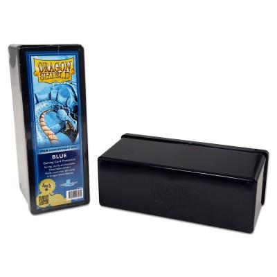 Boites de Rangements Accessoires Pour Cartes 4 Compartiments - Bleu