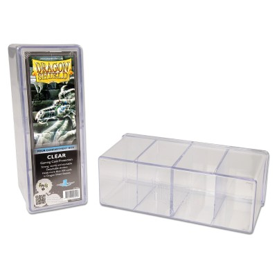 Boites de Rangements 4 Compartiments - Clear