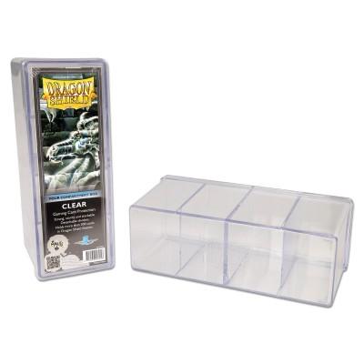 Boites de Rangements Accessoires Pour Cartes Deck Box Dragon Shield - Boite De Rangement 4 Compartiments - Clear - Acc