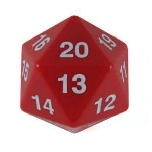 Dés et compteurs  Koplow Games - Enorme Dé 20 Faces - 55mm - Rouge - ACC