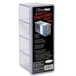 Boites de Rangements Accessoires Pour Cartes Card Box - 4 Compartiments - Clear