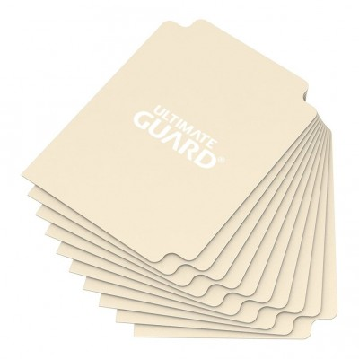 Boites de Rangements Accessoires Pour Cartes Deck Dividers Ultimate Guard - 10 Séparateurs De Cartes - Sable - Acc