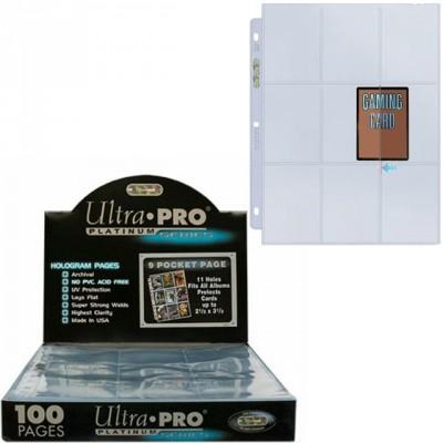 Classeurs et Portfolios Accessoires Pour Cartes Ultra Pro - Lot De 100 Feuilles De Classeur - Side Load - 9 Cases - Acc