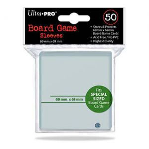 Protèges Cartes Accessoires Pour Cartes 50 pochettes Ultra Pro - Board Game Sleeves - Special Size (69x69) - ACC