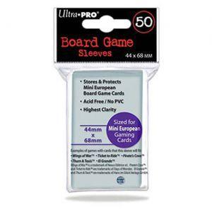 Protèges Cartes Accessoires Pour Cartes 50 pochettes Ultra Pro - Board Game Sleeves - Euro Mini Size (44x68) - ACC