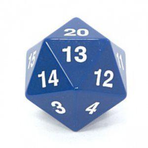 Dés et compteurs Accessoires Pour Cartes Koplow Games - Enorme Dé 20 Faces - 55mm - Bleu - ACC