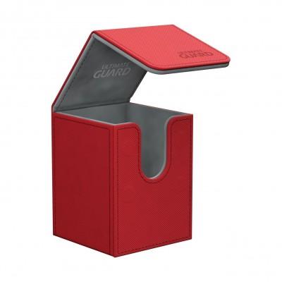 Boites de Rangements Accessoires Pour Cartes Flip Deck Case 100+ - Xenoskin - Rouge