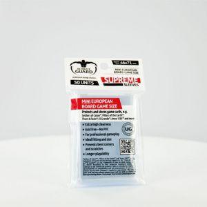Protèges Cartes 50 pochettes Ultimate Guard - Jeux de Plateau Européens Petit Format - Sleeves - ACC