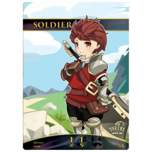 Token Magic Magic the Gathering Token/jeton Foil - Soldat (rouge)