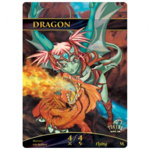Tokens Magic Accessoires Pour Cartes Token/jeton foil - Dragon (Rouge)