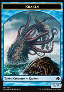 Tokens Magic Magic the Gathering Token/jeton - Duel Deck - Kraken