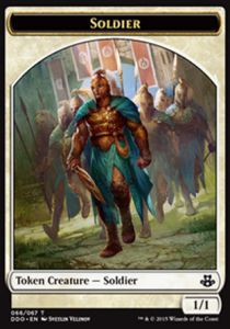 Tokens Magic Magic the Gathering Token/Jeton - Duel Deck - Soldat
