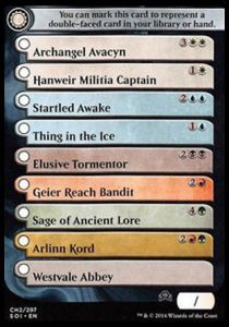 Token Magic Magic the Gathering Token/Jeton - Ténèbres sur Innistrad - Checklist Rares/ Mythiques