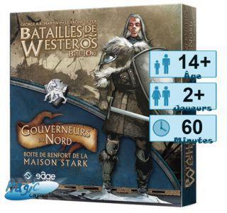Thème : Médiéval Jeux de Plateau Batailles de Westeros - Gouverneurs du Nord - (Game of Thrones)