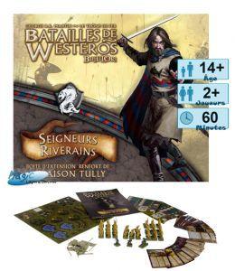 Thème : Médiéval Jeux de Plateau Batailles de Westeros - Seigneurs Riverains - (Game of Thrones)