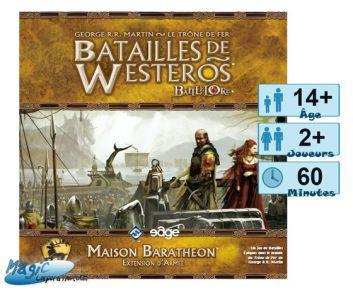 Thème : Médiéval Jeux de Plateau Batailles de Westeros - Maison Baratheon - (Game of Thrones)