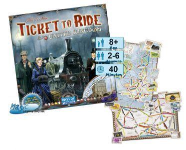 Thème : Véhicules Jeux de Plateau Les Aventuriers Du Rail - Royaume-uni