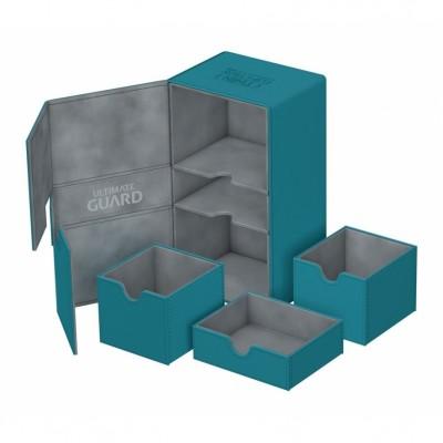Boites de Rangements Accessoires Pour Cartes Deck Box Ultimate Guard - Double 200+ - Bleu Pétrole - T4