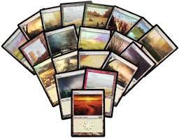Lot de Cartes Magic the Gathering Lot de 20 terrains de base - Plaine - foil