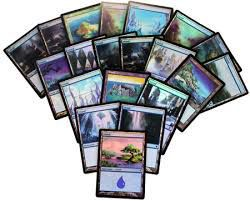 Lot de Cartes Magic the Gathering Lot de 20 terrains de base - Ile - foil