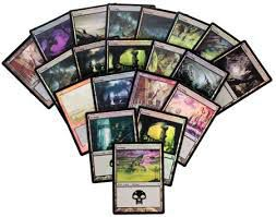 Lot de Cartes Magic the Gathering Lot de 20 terrains de base - Marais - foil