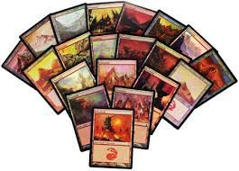 Lot de Cartes Magic the Gathering Lot de 20 terrains de base - Montagne - foil