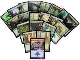 Lot de Cartes Magic the Gathering Lot de 20 terrains de base - Foret - foil