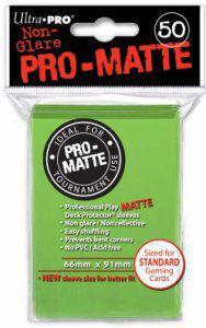 Protèges Cartes Accessoires Pour Cartes 50 pochettes - Pro Matte - Vert Citron