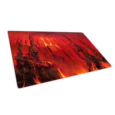 Tapis de Jeu Accessoires Pour Cartes Tapis De Jeu Ultimate Guard - Playmat - Lands Edition Montagne - Rouge - Acc
