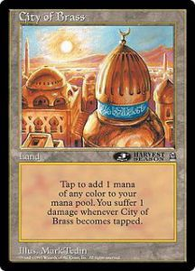 Grandes Cartes Oversized Magic the Gathering City of Brass (Version 1) (Oversized 6x9 Promos Arena League)