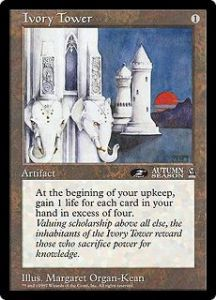 Grandes Cartes Oversized Magic the Gathering Ivory Tower (Oversized 6x9 Promos Arena League)