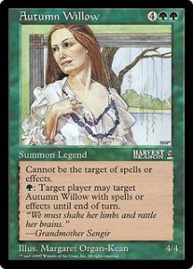 Grande Carte Oversized Magic the Gathering Autumn Willow (Oversized 6x9 Promos Arena League)