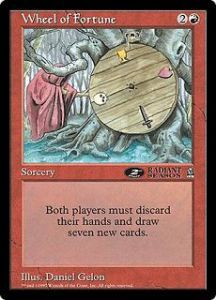 Grande Carte Oversized Magic the Gathering Roue de la fortune (Oversized 6x9 Promos Arena League)