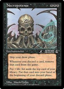 Grandes Cartes Oversized Necropotence (Oversized 6x9 Promos Arena League)