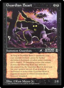 Grandes Cartes Oversized Magic the Gathering Guardian Beast (Oversized 6x9 Promos Arena League)