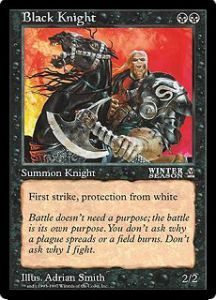 Grande Carte Oversized Magic the Gathering Chevalier noir (Oversized 6x9 Promos Arena League)