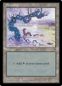Grandes Cartes Oversized Magic the Gathering Swamp (Oversized 6x9 Promos Arena League)